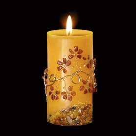 Candle with amber High