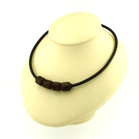 Mens amber necklace BIG ROLLERS with strong magnet clasp.