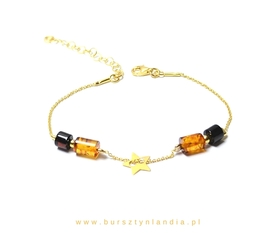 Bracelet of happiness with a star