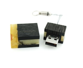 USB drive with amber